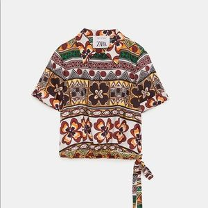 Zara 2018 S/S Collection Cropped Polo Shirt, Sz S